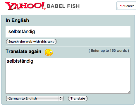 Babelfish translation FAIL