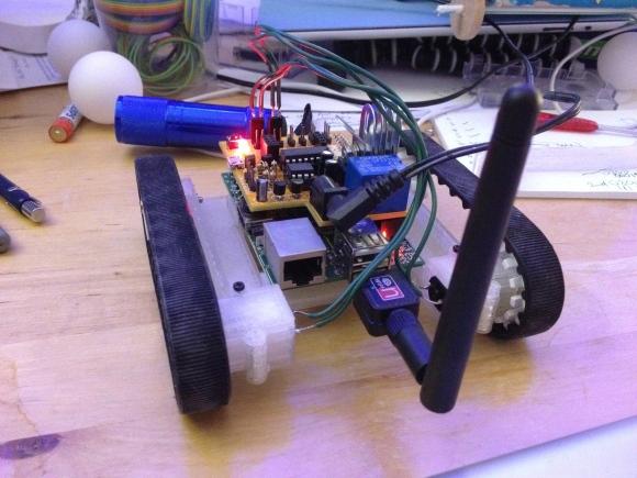 Assembled robot base
