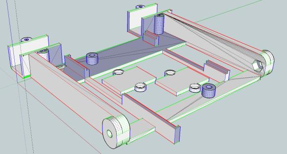 Robot base designed in Sketchup